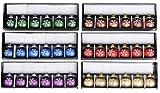96 Tischkartenhalter Weihnachtskugel mit Tischkarte Glas Kugel Ø 4 cm Weihnachten Schneeflocke in 6 Farben