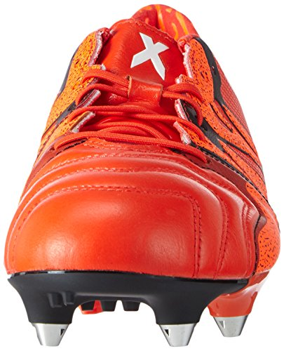 adidas X15.1 Sg Leather, Chaussures de football homme Rouge - Rot (Solar Orange/Core Black/Bold Orange)