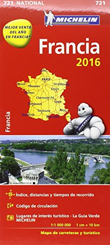 Mapa National Francia 2016 (Mapas National Michelin)