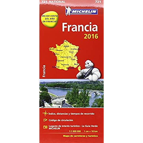 Mapa National Francia 2017 (Mapas National Michelin)