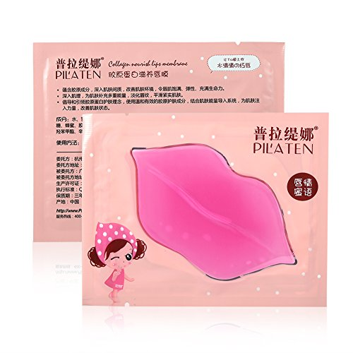 16pcs Pilaten Pink Crystal Collagen Beauty Maschera idratante per labbra idratante esfoliante
