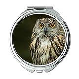Yanteng Spiegel, Schminkspiegel, Eule fressender Eulenvogel, Taschenspiegel, tragbarer Spiegel