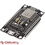 AZDelivery NodeMCU Lua Lolin V3 Module ESP8266 (ESP-12E), Carte de développement Development Board Wi-FI avec CH340, NodeMCU V3 Wireless y compris un eBook