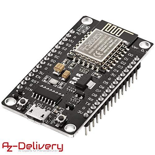 AZDelivery NodeMCU Lua Lolin V3 Module ESP8266 ESP-12F WIFI Wifi Development Board mit CH340 und gratis eBook!