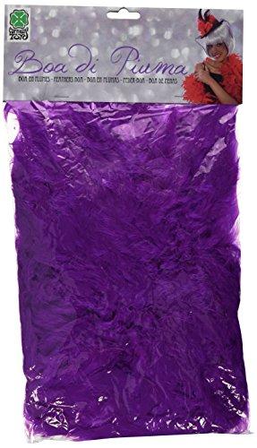 Carnival 08267 - Boa di Piume Economico Viola in Busta con Cavallotto, 180 cm, circa 45 gr.