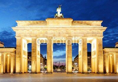 druck-shop24 Wunschmotiv: Berlin, brandenburg at night #92778377 - Bild auf Forex-Platte - 3:2-60 x 40 cm/40 x 60 cm