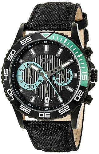 Carlo Monti CM509-622 - Reloj cronógrafo de cuarzo para hombre con correa de tela, color negro