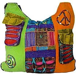 Bolsa bandolera para mujer, diseño hippie, varios colores