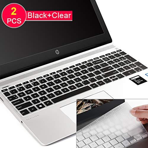Tastatur-Abdeckung für HP Envy 17 Series/HP Notebook 17t 17-BS 17-BW 17-CA 17-by,HP Pavilion X360 15m-bp/bq,HP Spectre x360 15-ch011dx,Pavilion 15-cb 15-cc 15-cd 15-cd 15-bw 15-BBS schwarz (Skins Für Hp Pavilion X360)