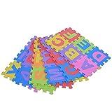 36Pcs Stuoia Educativo EVA Foam Bambini Giocattolo Tappetino Puzzle Cuscino Pad Multicolore Alfabeto Lettera & Numeri Piccoli blocchi Tappetino morbido per Bambini Decorazione Interno Fitness Yoga Tappeto, 15 * 15CM / 5.9 * 5.9INCH