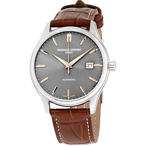 Frederique Constant Men's 40mm Brown Leather Band Automatic Watch FC-303LGR5B6