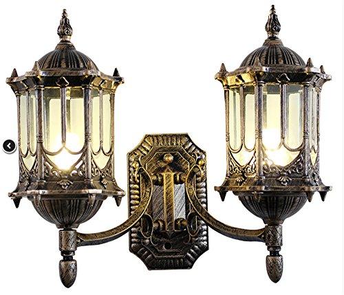 xasyd-continental-ampoules-lampe-outdoor-dual-head-wandlampen-etanche-dual-head-courtyard-luminaires