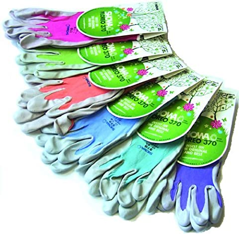 Showa Floreo 370 Lightweight Gardening Gloves Colour: Green, Size: Medium