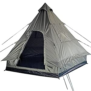 51WlVYDnpBL. SS300  - Pyramid Tent Tipi Indian Style Camping Festivals Hiking Outdoor 4 Person Olive