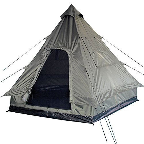 51WlVYDnpBL. SS500  - Pyramid Tent Tipi Indian Style Camping Festivals Hiking Outdoor 4 Person Olive