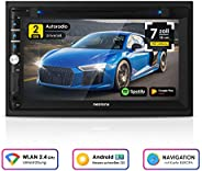NEOTONE NDX-360A | 2DIN Autoradio | GPS Navigation mit Europakarten 2019 | DAB+ Unterstützung | 7 Zoll | USB l SDHC | Full H