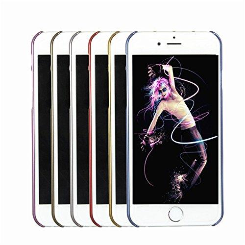 Pour Apple iPhone 6 / 6S plus 5,5 '' Case de luxe ultra-mince Retour Housse Electroplate MŽtal rose rouge