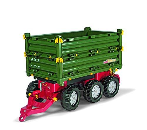 Rolly Toys 125012 - Veicolo a Pedali Multitrailer John Deere, 3 Pezzi Assortiti