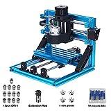 MYSWEETY 1610 GRBL Steuerung DIY CNC Graviermaschine + 1 Satz ER11, Holzschnitzerei Fräsen PCB PVC CNC Router Kit (Arbeitsbereich 16x10x4.5cm, 3 Achsen, 110V-240V)