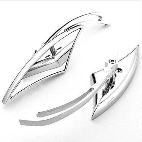 heinmo chrom Klinge Aluminium Custom Spiegel für Harley Motorrad Cruiser Chopper Rückspiegel (Powersports Klinge)