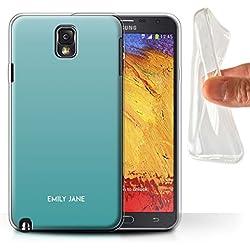 Stuff4 Personnalisé Couleurs Ombre Coutume Coque Gel/TPU pour Samsung Galaxy Note 3 / Ombre Sarcelle Design/Initiales/Nom/Texte Etui/Housse/Case