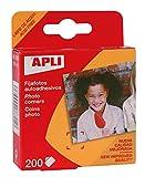 APLI 93 - Pack de 200 fijafotos autoadhesivos, 18 x 17 mm
