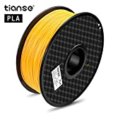 TIANSE Arancione filamento PLA per stampanti 3D, 1,75 mm, precisione dimensionale +/- 0,03 mm (2,2 lbs.)