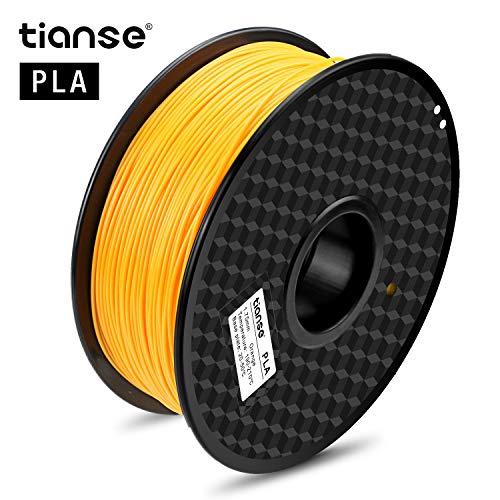 TIANSE Filamento de PLA para la impresora 3D / Pluma 3d, 1 kg 1,75 mm(Naranja)