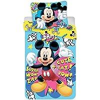Jerry Fabrics Juego de Cama para Niños con Cremallera, Diseño Mickey and Friends, Poliéster,, 200x140x0.5 cm