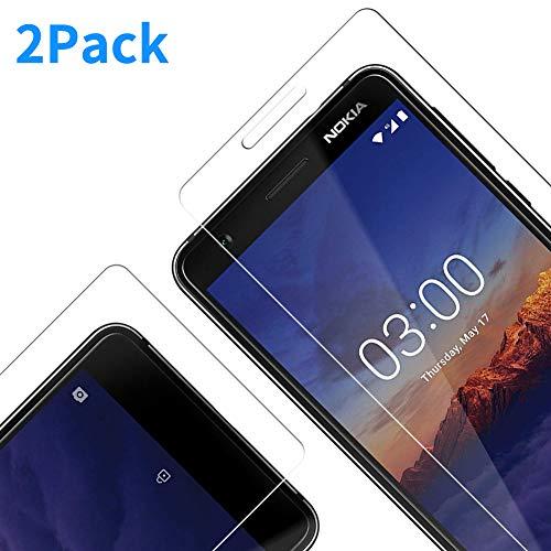 Vkaiy Nokia 3.1 2018 Pellicola Protettiva in Vetro Temperato - [Durezza 9H] [Alta Trasparente] [Nessuna Bolla] [Anti-Impronte] [ Antigraffi], Facile da Installare, [2 Pezzi]