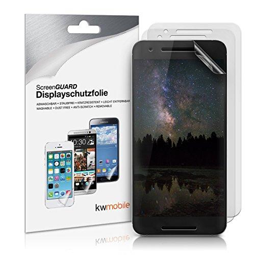 kwmobile 3X Folie matt für Huawei Google Nexus 6P Bildschirmschutzfolie - Schutzfolie Anti-Fingerabdruck Bildschirmschutz Bildschirmfolie entspiegelt