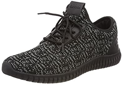 Urban Classics Knitted Light Runner Shoe, Sneaker Unisex-Adulto, Multicolore (Black/Grey/Black 828), 43 EU