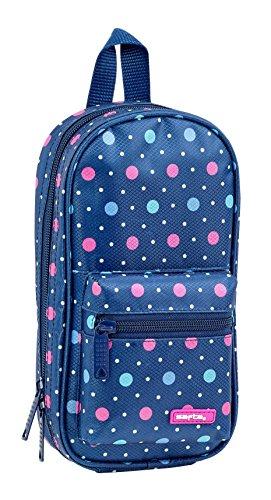 Safta Neceser Con 4 Estuches útiles Safta Dots Blue