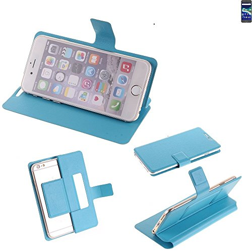K-S-Trade Flipcover für General Mobile GM 6 Schutz Hülle Schutzhülle Flip Cover Handy case Smartphone Handyhülle blau