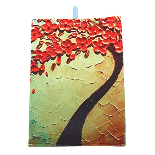 Beafavor Einfache Baumwolle Leinen Papier Handtücher Tasche Papiertüte Auto Tuch Tissue Box Pumpen Papier Box (Red Rich Tree) - Rich Pumpe