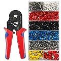 Crimpzangen Aderendhülsen Set KYG mit 1200 Stück Kabelschuhe Crimperkzeug für 0.25-10mm² isolierte und unisolierte Kabelschuhe MEHRWEG von NBGLASSES - Werkzeug Shop