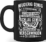 shirt-o-magic Hochwertige Tasse - Mechaniker: Neugierig, geschickt und schlau - Geschenk KFZ-Mechatroniker Schrauber