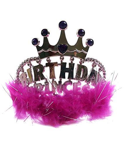Geburtstags-Prinzessin Tiara - Ihre Königliche Hoheit Prinzessin Tiara Birthday Girl In Golen Mit Pink Trim (Königliche Hoheit Kostüm)
