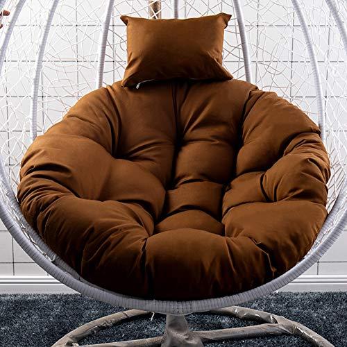 Ncloyn Single Hängesessel Sitzkissen Ohne Ständer, Dicke Wasser Hängende Ei Stuhl Swing Chair Pad Stuhlmatte Eins Für Balkon Garten-4