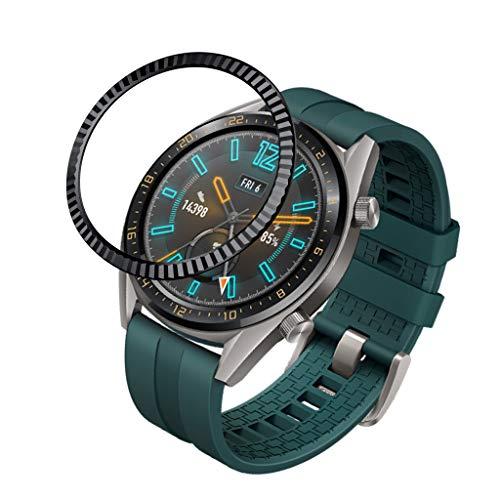 Uhrengehäuse, Webla Uhrengehäuse Passend für Huawei Watch GT 46MM mit ringförmiger Abdeckung, Gummiabdeckung, kratzfestem Metallgehäuse, Stahl -