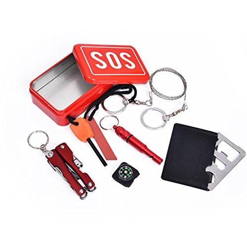 Outdoor Tools, Toamen SOS Help Outdoor Sport Camping Hiking Survival Emergency Gear Tools Box Kit Set