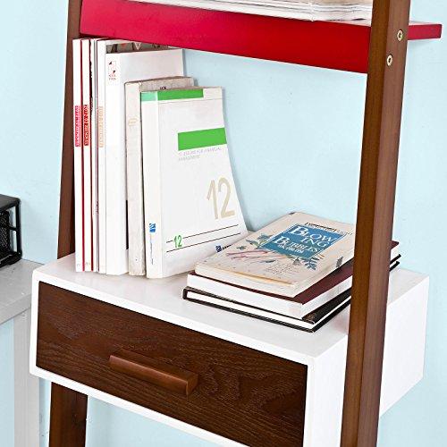 SoBuy® Scaffale a scala,Mensola porta CD,Librerie, con Cassetto ...