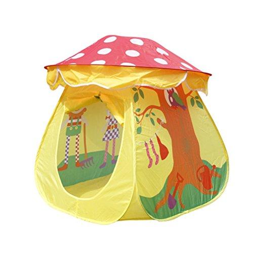 WINOMO Gioco Portatile Tenda Giocattolo Bambini Ragazzi e Ragazze Casa Fungo Tenda