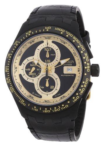 Swatch Herren-Armbanduhr Right Track Sunshine Automatik-Chrono SVGB401