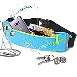 Sport Hüfttasche,Yica Running Bauchtasche Wasserdichte Gürteltasche Hüfttasche mit Kopfhöreranschluss Laufgürtel Lauftasche mit reflektierenden Streifen für Laufen, Wandern, Reiten für Samsung Galaxy S8/S8 edge/S7/S7 edge/iPhone 7/7 Plus / bis zu 6 Zoll usw