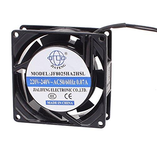 sourcingmap AC 220V-240V 80mmx80mmx25mm 7 paletas de ventilador del radiador de refrigeración...