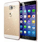 Samsung Galaxy A5 2016 Coque Protection de NICA, Ultra-Fine Glitter Housse Slim Hardcase Paillettes Cover, Etui Rigide Strass Bumper Mince pour Telephone Portable Samsung A5 2016 - Gold Or