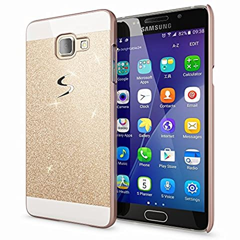 Samsung Galaxy A5 2017 Hard-Case by NICA, Sparkly Mobile Phone Back-Cover Ultra-Thin Skin Protector, Sparkle Glitter Shock-Proof Bumper Slim-Fit Protective Bling Backcase for A5-2017,