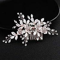 symboat de peine cabello de boda ornamentos elegante flor perlas Décor a la  mano novia gorro c7db195aa6aa