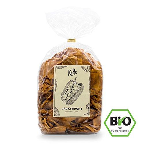 Image of Getrocknete Jackfrucht ● Bio Qualität ● Ungeschwefelt ● Ohne Zusatz von Zucker ● Natürlich Süß ● 500 g Packung ● KoRo